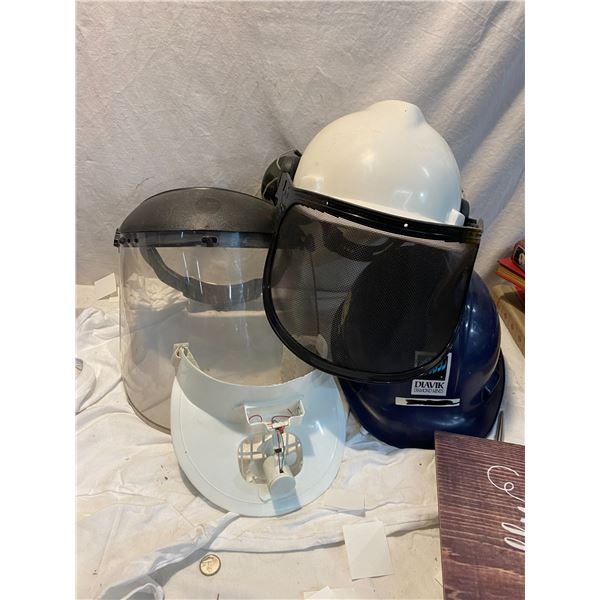 Helmets and face shield