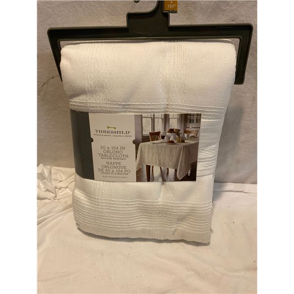 60x 104 inch oblong table cloth new