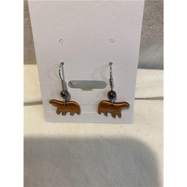 New bear earrings