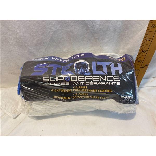 Stealth slip Defensce 12 pairs gloves size xl