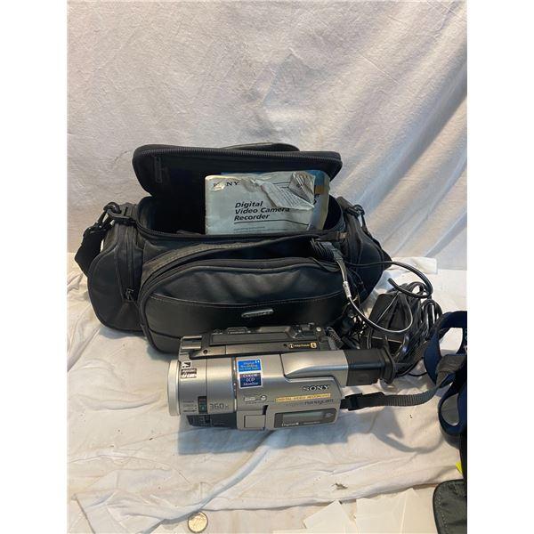 Sony digital video camera and bag