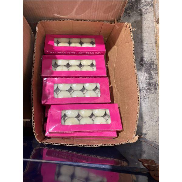 Lot of tea lights