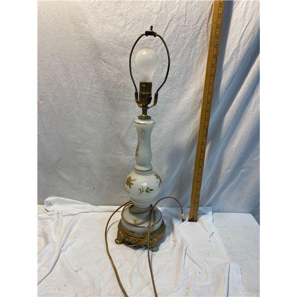 Glass lamp no shade