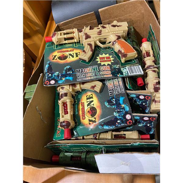 Box toy machine guns