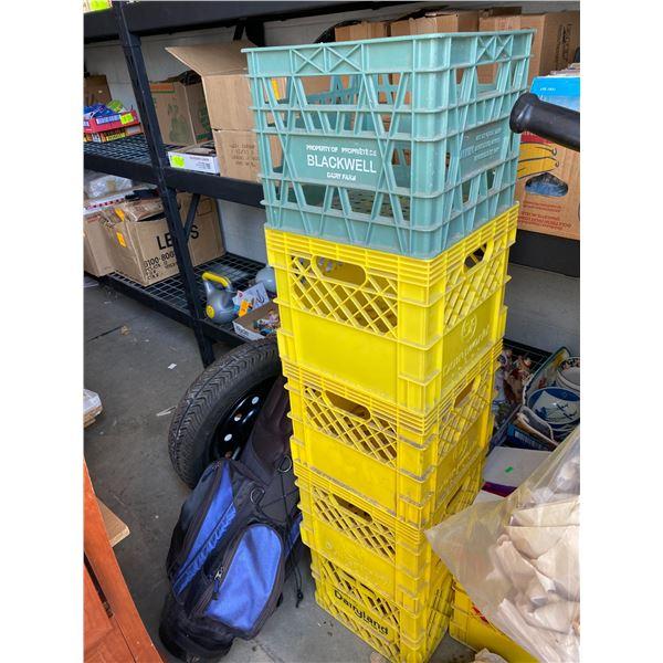 5 crates