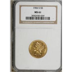1906-S $5 MS61 NGC