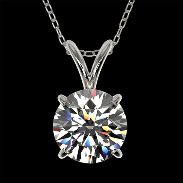 1.29 ctw Certified Quality Diamond Necklace 10k White Gold - REF-188M2G