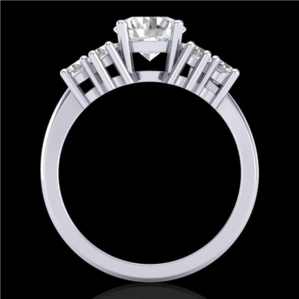2.1 ctw VS/SI Diamond Solitaire Ring 18k White Gold - REF-465H2R