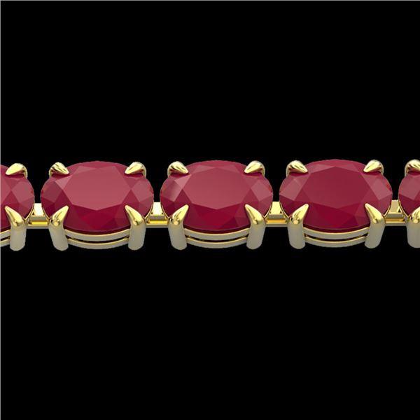 29 ctw Ruby Eternity Designer Bracelet 14k Yellow Gold - REF-180X2A
