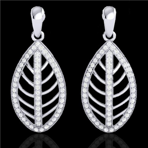 2 ctw Micro Pave VS/SI Diamond Designer Earrings 18k White Gold - REF-174G5W