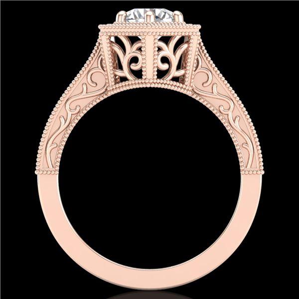 0.77 ctw VS/SI Diamond Art Deco Ring 18k Rose Gold - REF-172H8R