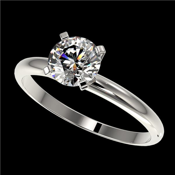 1.03 ctw Certified Quality Diamond Engagment Ring 10k White Gold - REF-124M4G