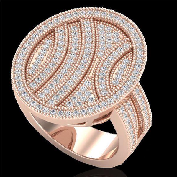 1.25 ctw Micro Pave VS/SI Diamond Ring 14k Rose Gold - REF-135G5W