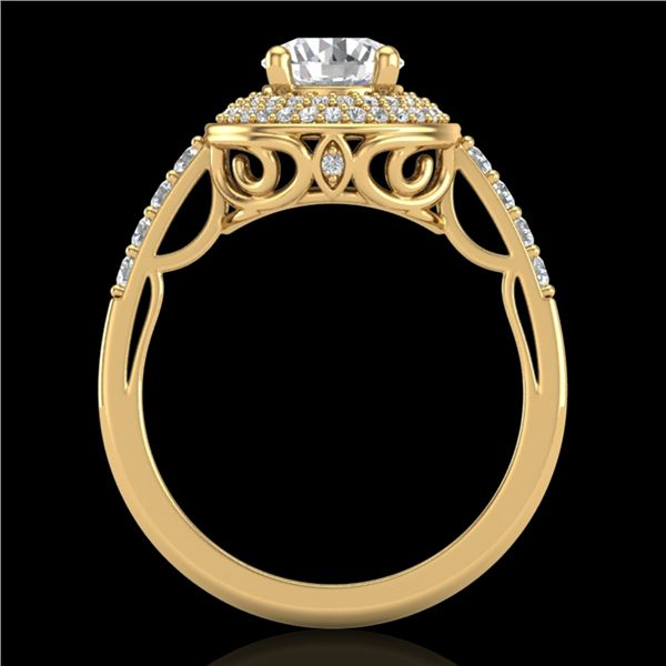 1.7 ctw VS/SI Diamond Solitaire Art Deco Ring 18k Yellow Gold - REF-436X4A