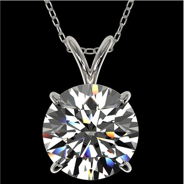 2.50 ctw Certified Quality Diamond Necklace 10k White Gold - REF-658W6H