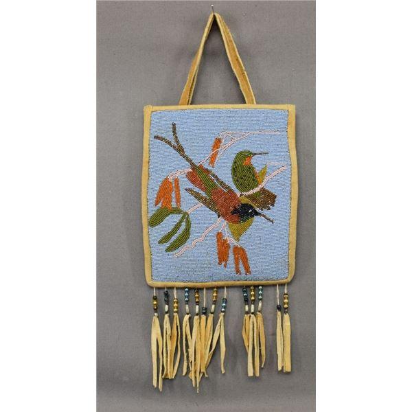 NEZ PERCE INDIAN BEADED FLAT BAG