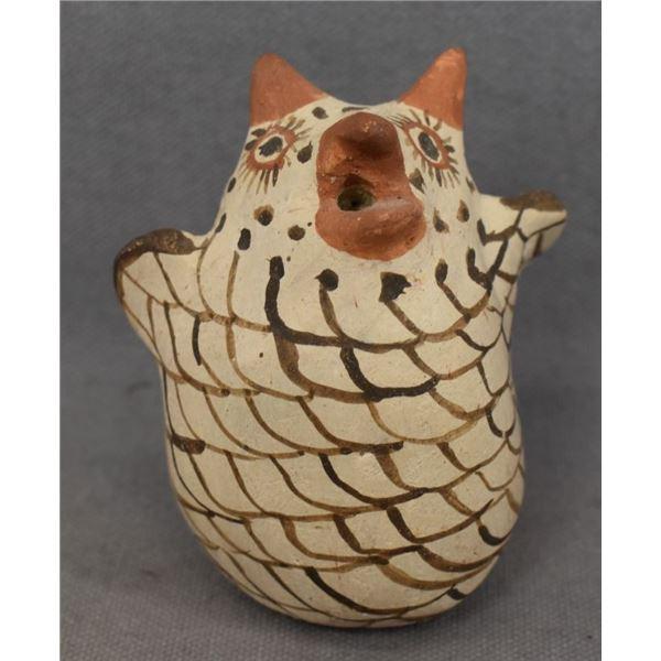 ZUNI INDIAN POTTERY OWL (JOSEPHINE NAHOHAI )