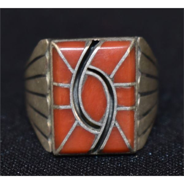 NAVAJO INDIAN RING ( NORMAN LEE)