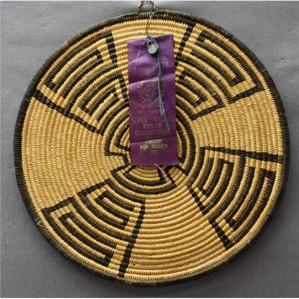 APACHE INDIAN BASKETRY PLAQUE