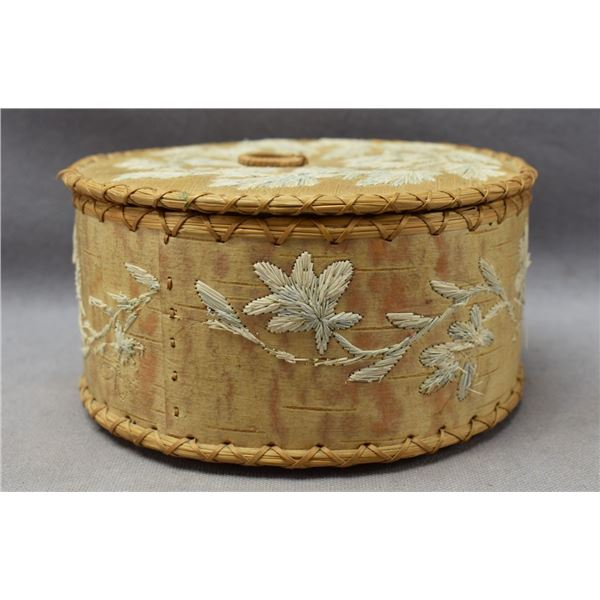 WOODLANDS INDIAN QUILLED CONTAINER