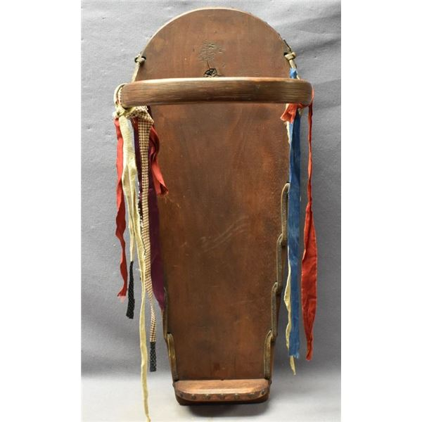IROQUOIS INDIAN CRADLE BOARD