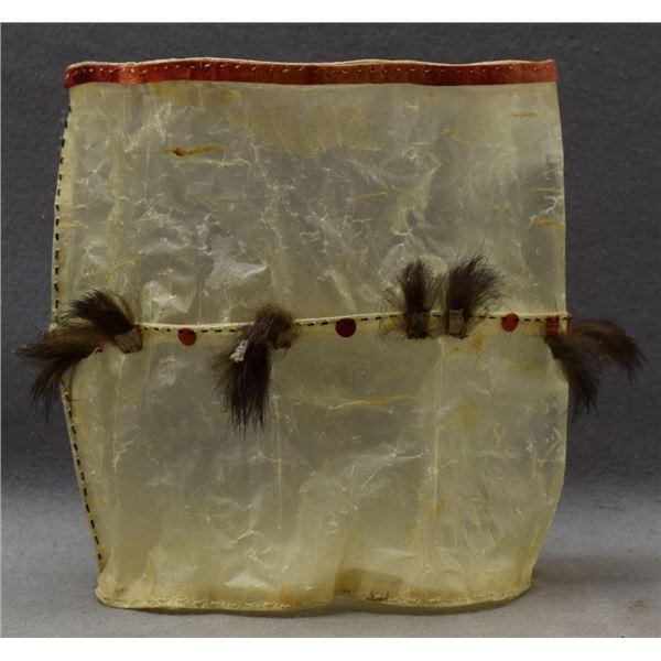 ESKIMO INDIAN BLADDER BAG (ELAINE KINGEEKUK)
