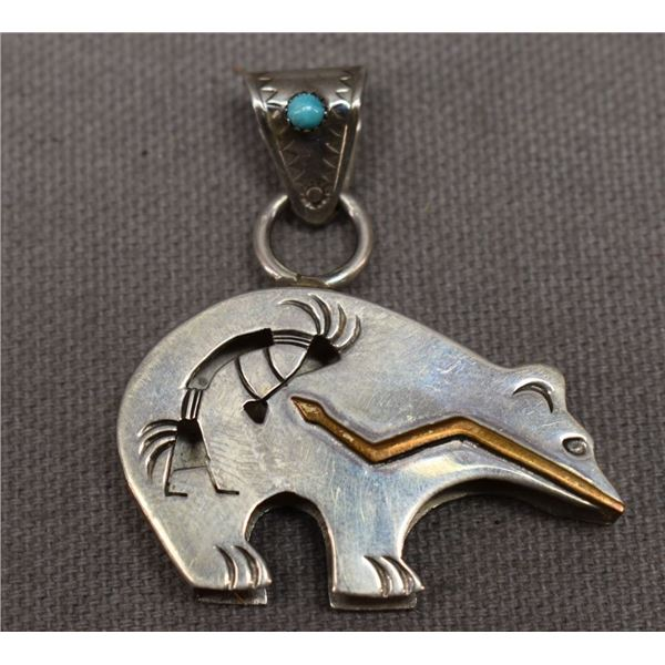 NAVAJO INDIAN PENDANT (CECIL PERRY)