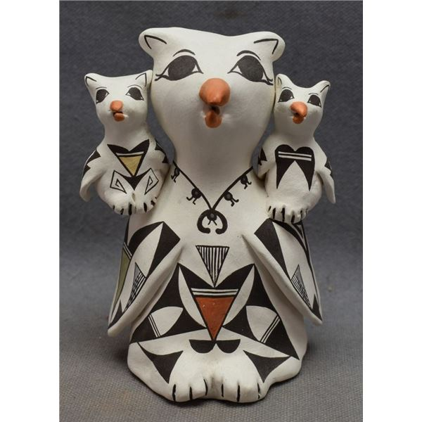 ACOMA INDIAN POTTERY OWL (JUDY LEWIS)