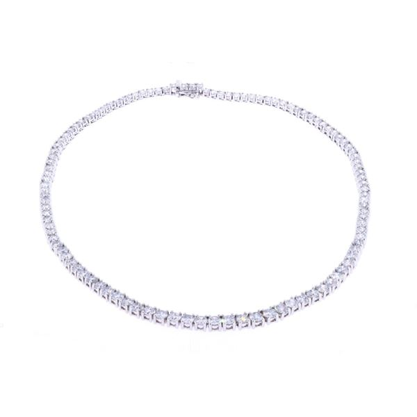 Luxury 23.53ct Natural Diamond 18k Gold Necklace