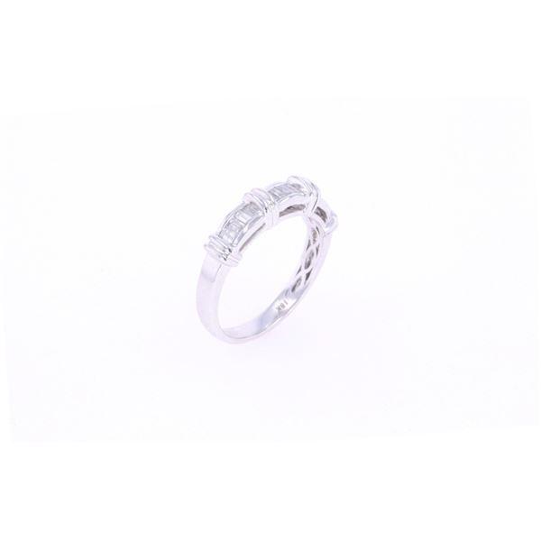 Vintage Baguette Diamond & 14k White Gold Ring