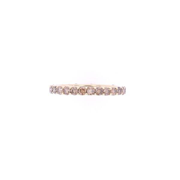 Opulent Bright Cut Brown Diamond & 14k Gold Ring