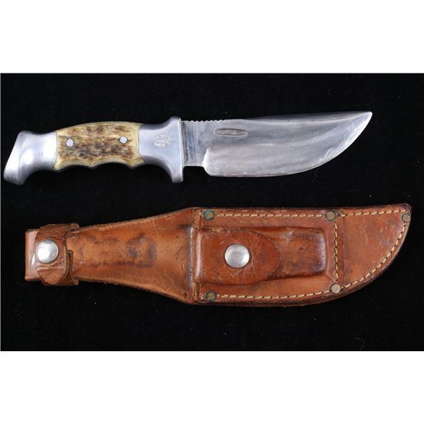 R.H. Ruana Camp Knife & Leather Scabbard