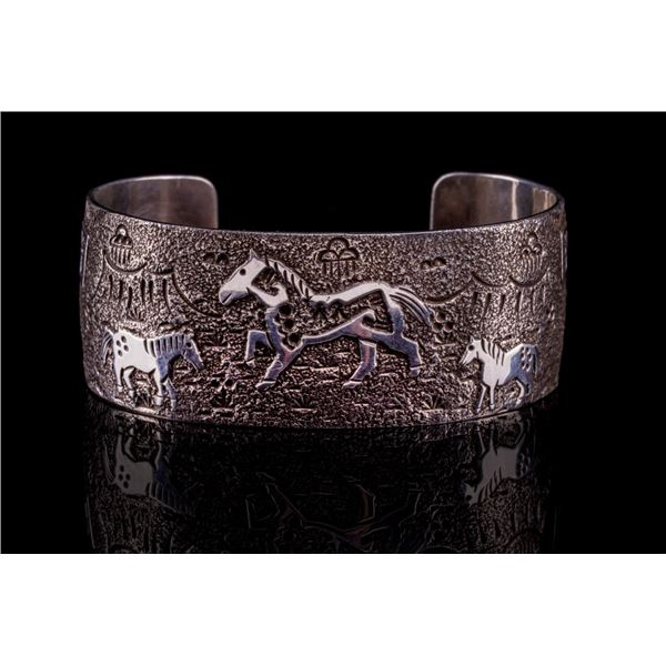 Navajo Raymond Begay Tufa Cast Sterling Bracelet