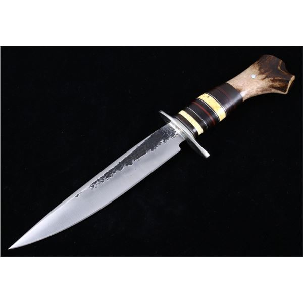 J. Behring Montana Custom Stag Horn Bowie Knife