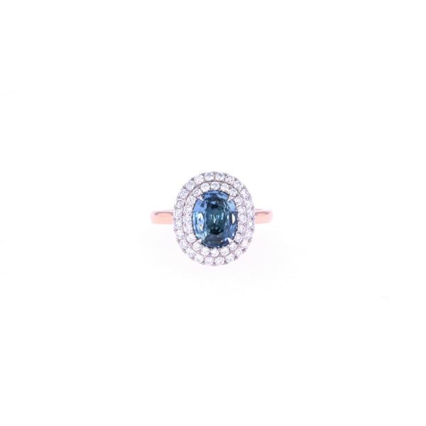 Montana GIA Certified Unheated Sapphire Gold Ring