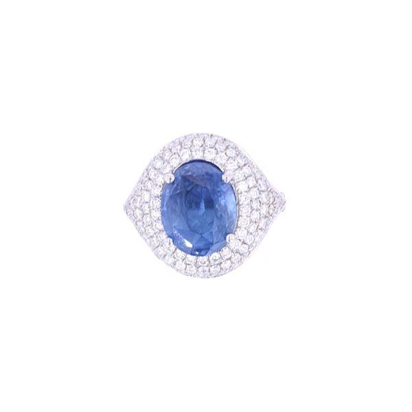 GIA Certified Sapphire & VS2 Diamond Vintage Ring