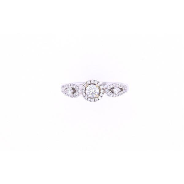 Antique Brilliant Diamond & 18k White Gold Ring