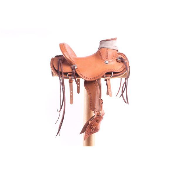 Lambert Leather Salesman Saddle & Display Stand