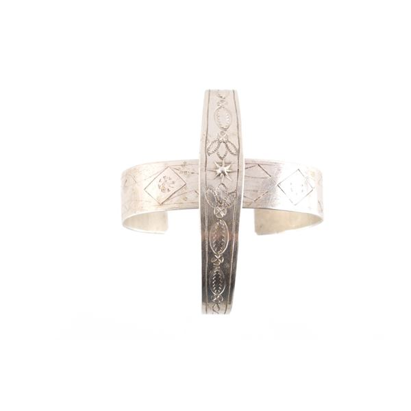 1890 Fred Harvey Navajo Sterling Bracelets (2)