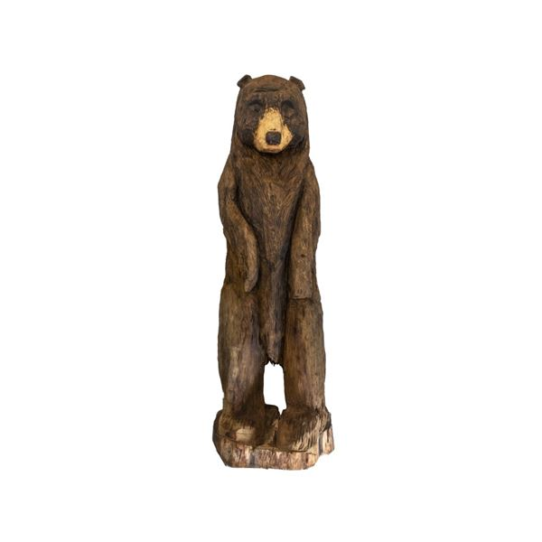 Montana Chainsaw Carved Pine Bear 7 1/2 Foot Tall