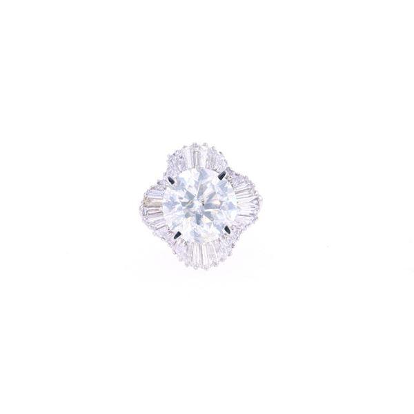 RARE 9.48 cts. VS2-I1 Diamond & Platinum Ring
