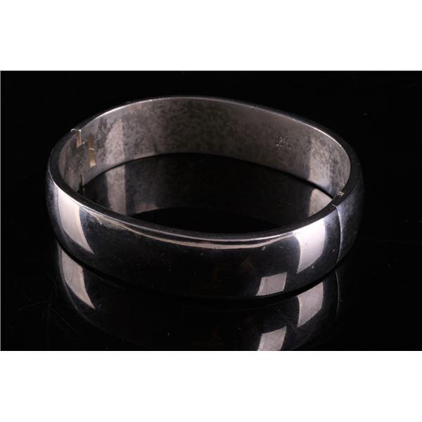 Taxco, Mexico Heavy Sterling Silver Clasp Bracelet