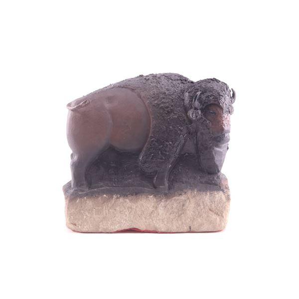 Chopwood, Hank (1941-2005) Stone Buffalo Sculpture