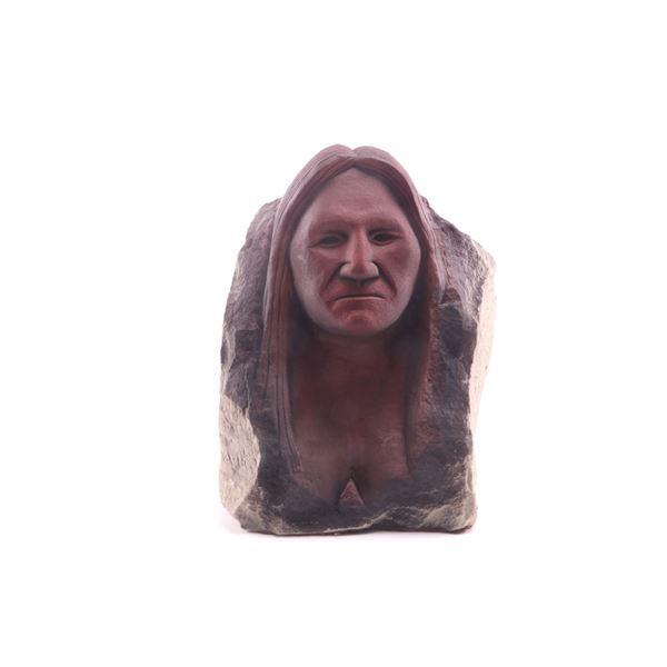 Chopwood, Hank (1941-2005) Stone Woman Sculpture