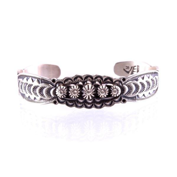 Navajo Bennie Ramone Sterling Silver Bracelet