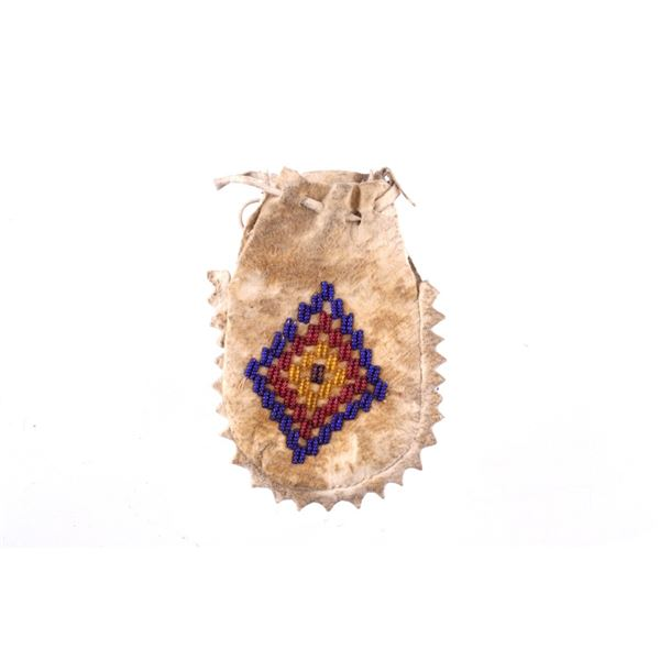 Crow Beaded Flat Bag Otto Ernst 1890-1910