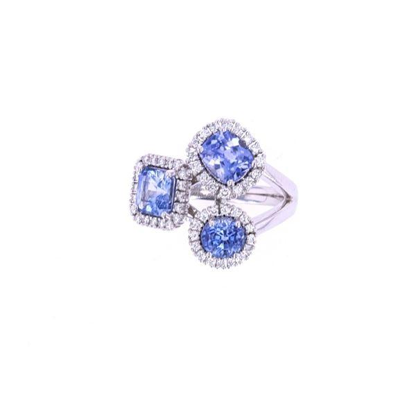 Montana Sapphire & VS2 Diamond 18k Gold Ring