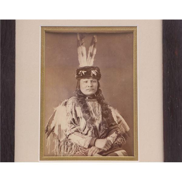 Sioux Chief Brave Bear 1880's Albumen Photograph