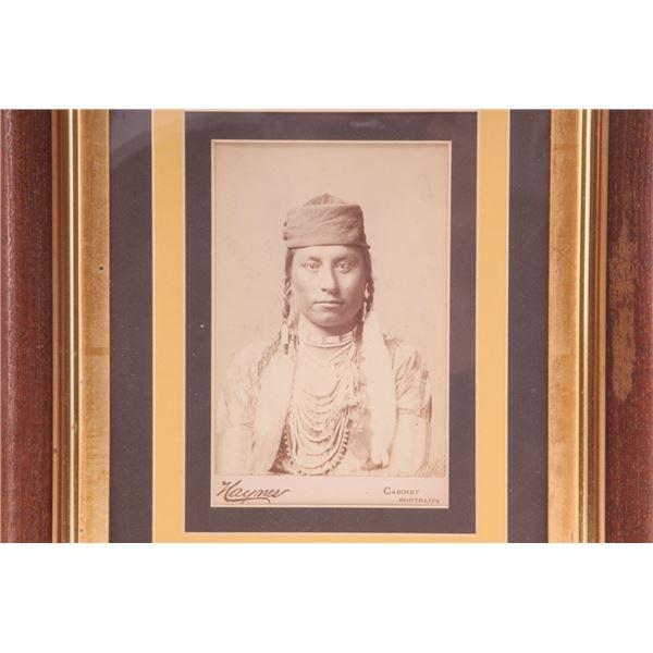 """Framed Haynes """"Medicine Man"""" 1883"""