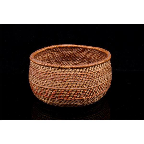 Yoruk Indian Hand Woven Basket c. 1950's